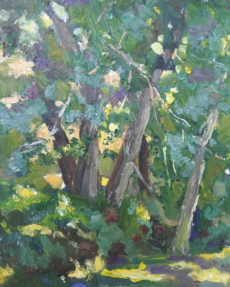 """""""Summer Opening"""" original fine art by Michael McConnell"""