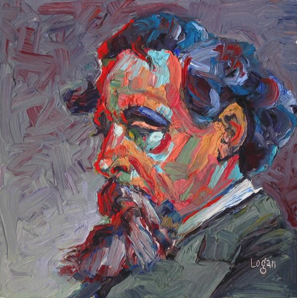 """Mr. Charles Dickens"" original fine art by Raymond Logan"