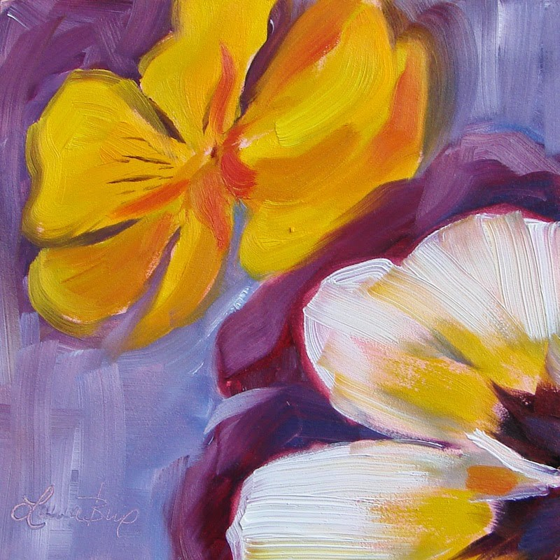 """More Pansies 204"" original fine art by Laura  Buxo"