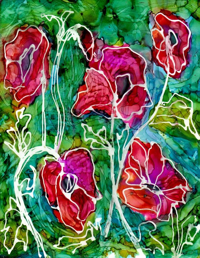 """flowers6"" original fine art by Kristen Dukat"