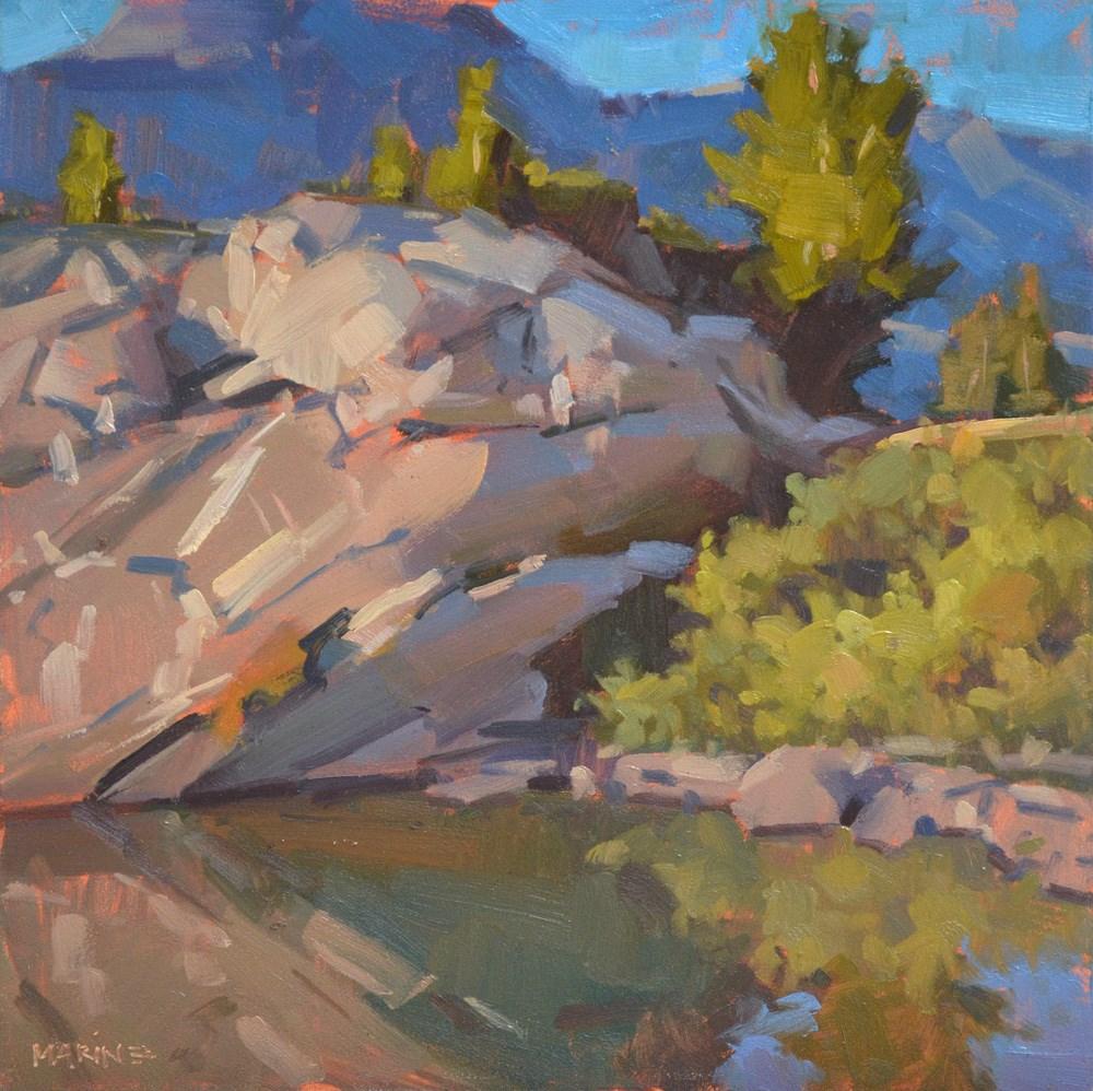 """Sunrise at the Edge"" original fine art by Carol Marine"