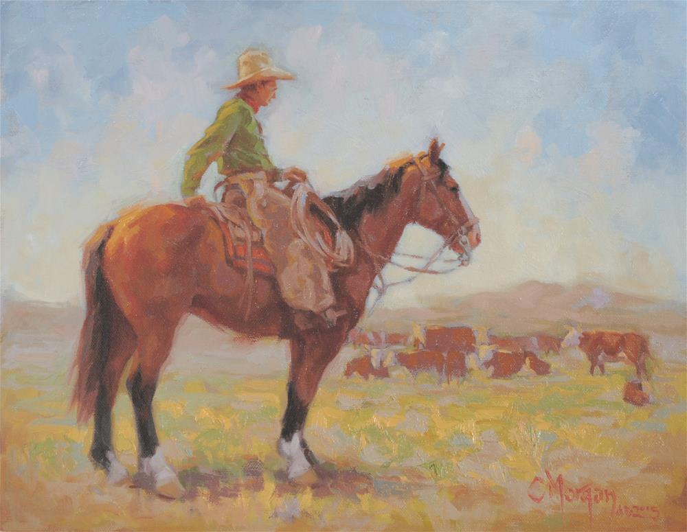 """Wrangler Memories #9"" original fine art by Cecile W. Morgan"