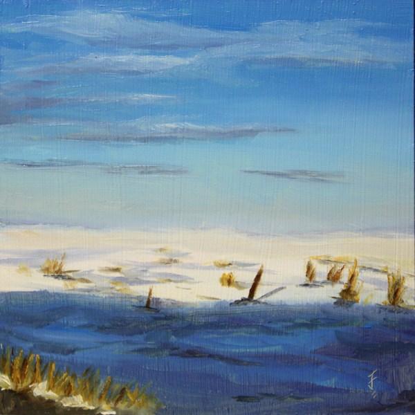 """Snow on the High Plains"" original fine art by Jane Frederick"