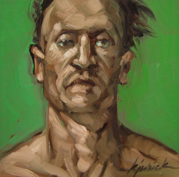 """100 Faces, No. 57"" original fine art by Karin Jurick"