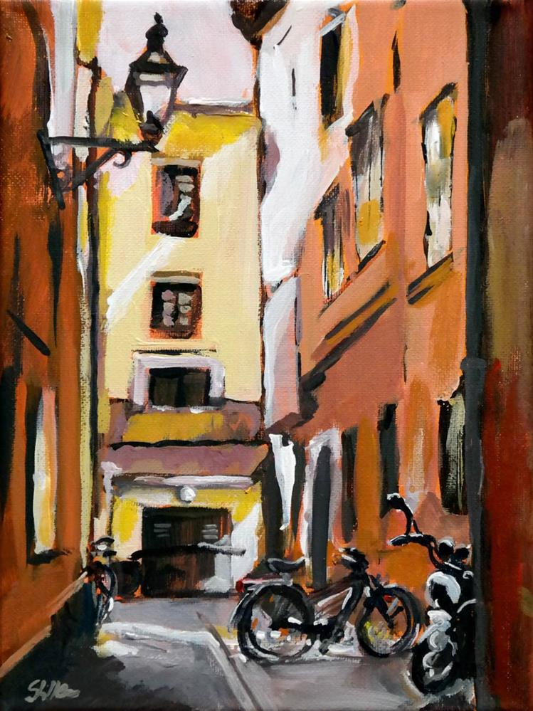 """1608 Bergen Alley"" original fine art by Dietmar Stiller"