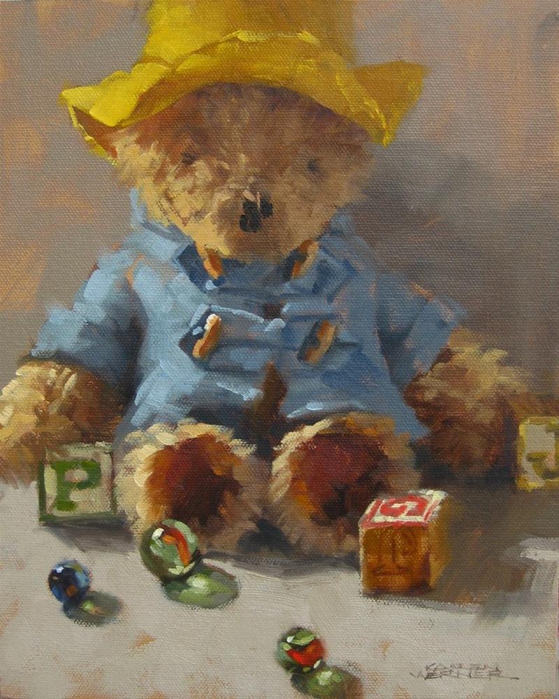 """Paddington"" original fine art by Karen Werner"
