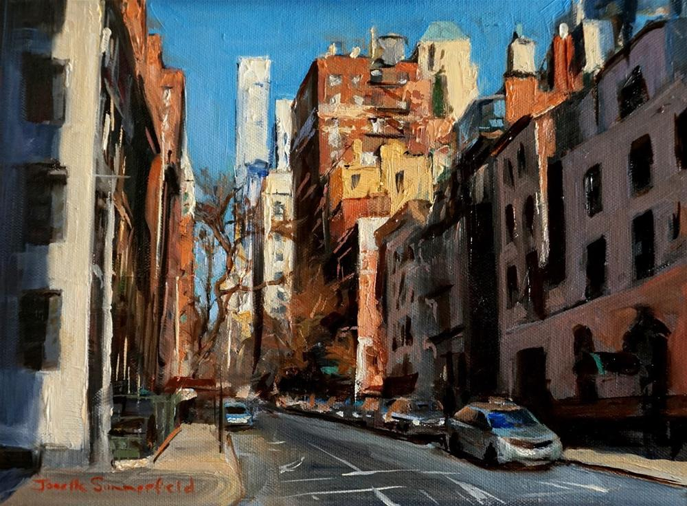 """Sunny Street in New York"" original fine art by Jonelle Summerfield"