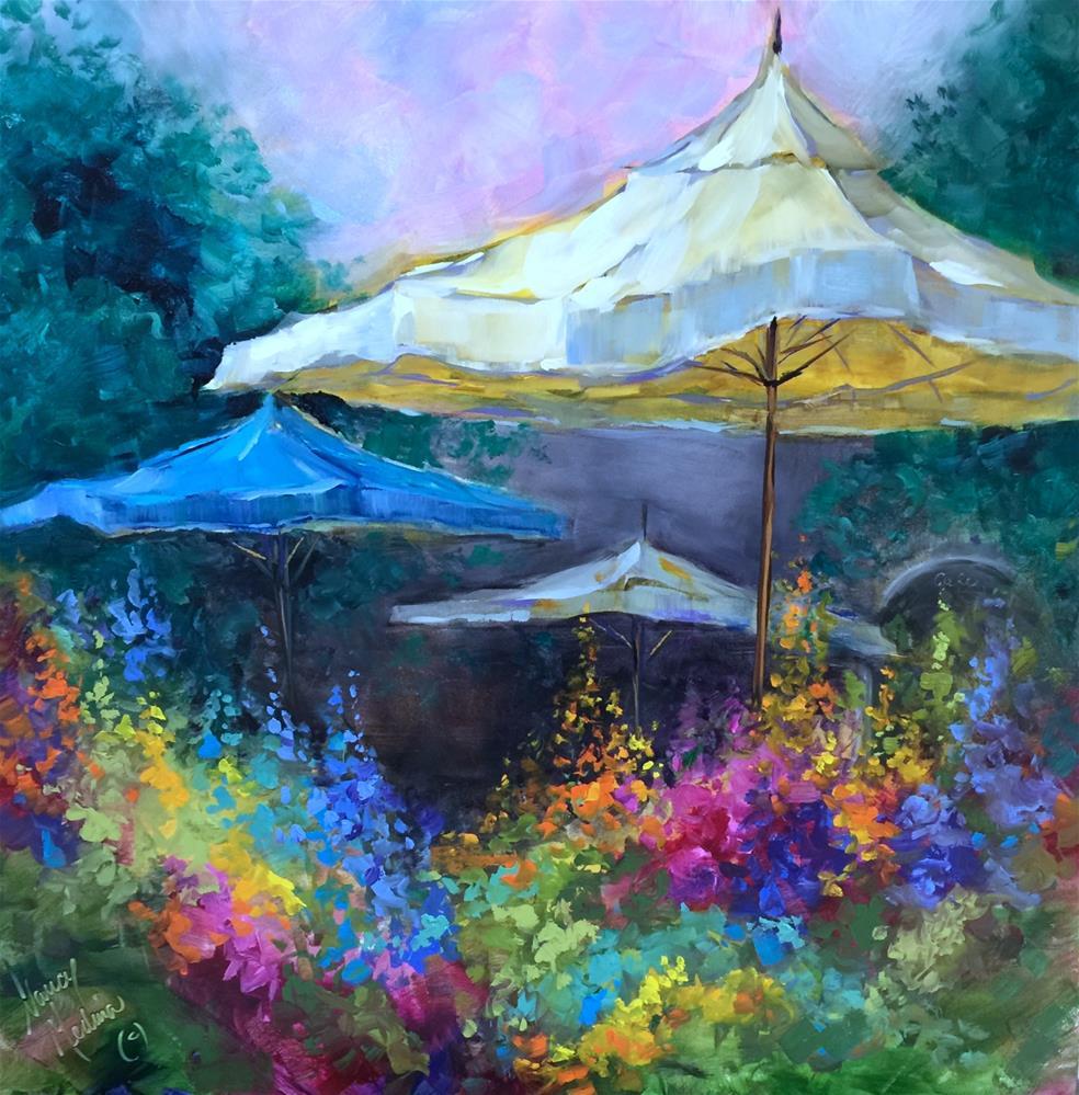 """French Travels and a Flower Market Discovery - Nancy Medina Online Classes and Journey Workshops"" original fine art by Nancy Medina"