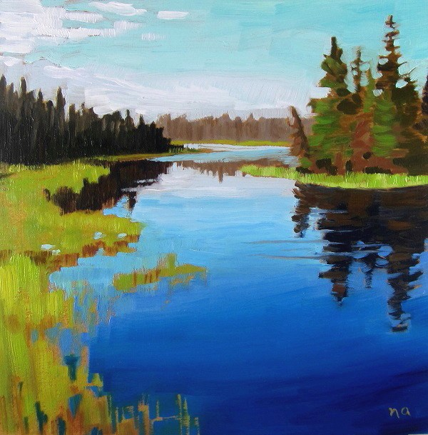 """Winding River, Waskesiu"" original fine art by Nicki Ault"