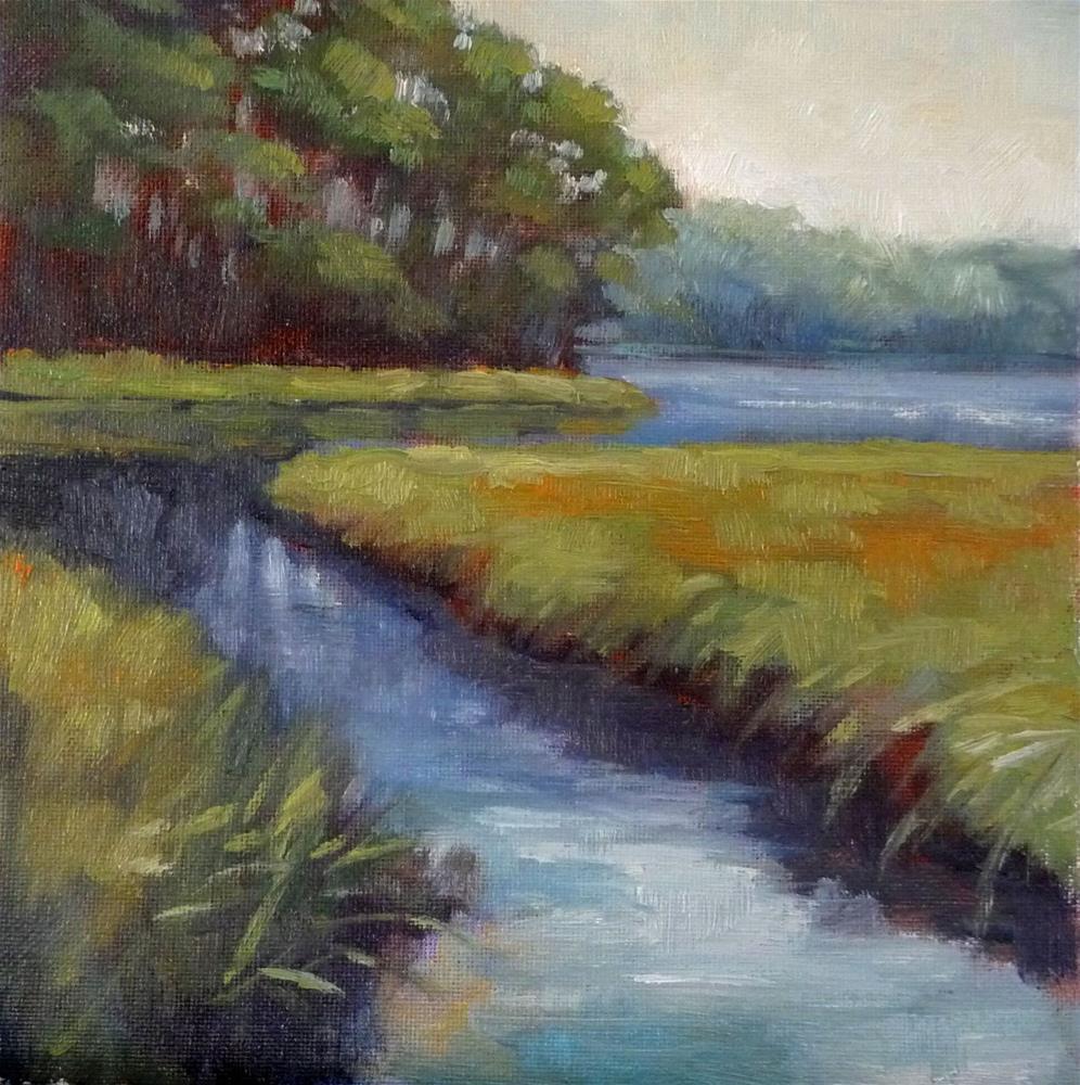 """""""Marsh Grasses"""" original fine art by Lisa Kyle"""