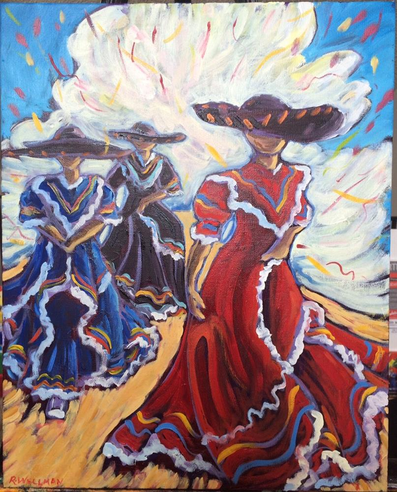 """""""Dancers, oil painting 20x16"""" original fine art by Robyn Suzanne"""