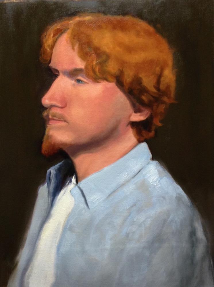 """Reid"" original fine art by Karen D'angeac Mihm"
