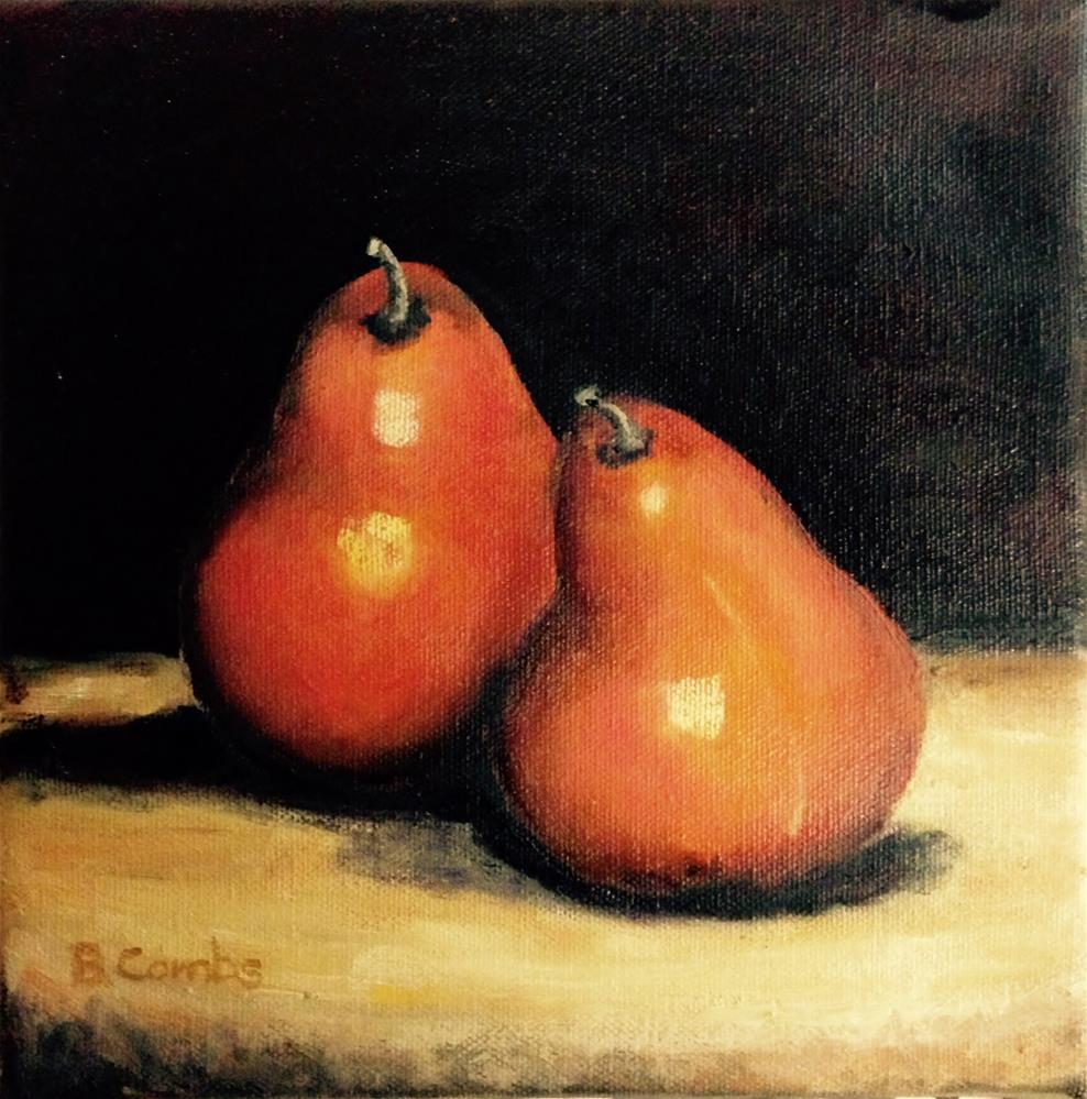 """Pears II"" original fine art by Bebe Combs"