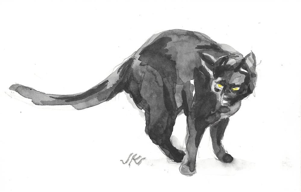 """Daily Cat 180"" original fine art by Jean Krueger"