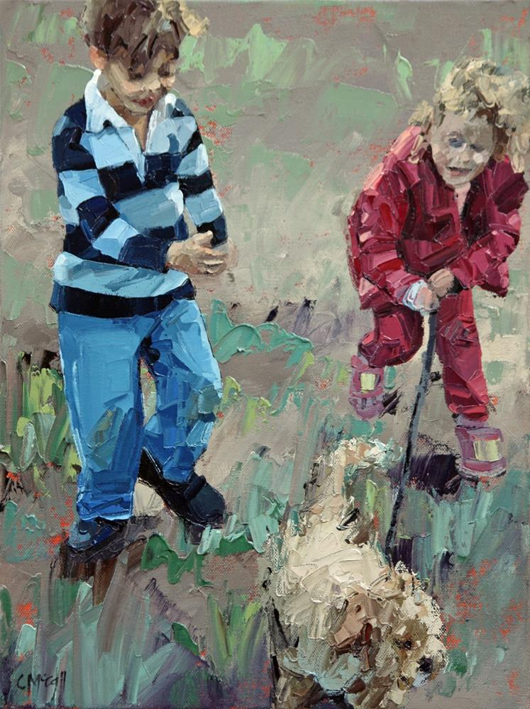 """Best Friends III"" original fine art by Claire McCall"