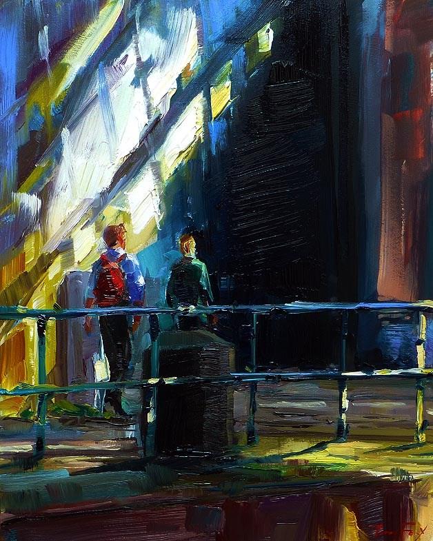 """""""Reisende"""" original fine art by Jurij Frey"""