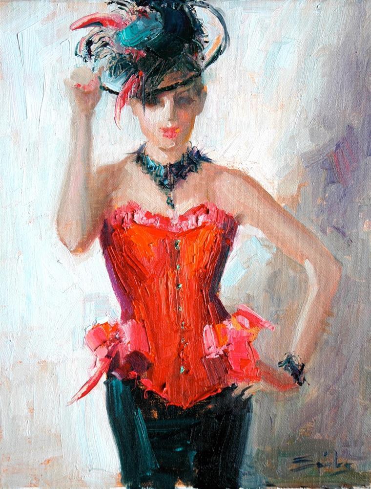 """Cherry"" original fine art by Johanna Spinks"