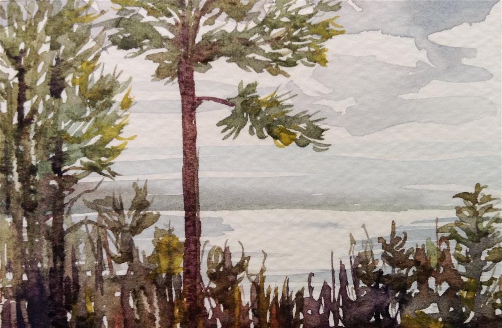 """""""Bayside Studio View"""" original fine art by Lyn Gill"""
