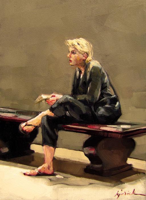 """""""Blond Ambition"""" original fine art by Karin Jurick"""