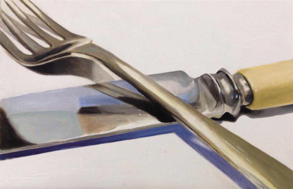 """""""Knife and Fork"""" original fine art by James Coates"""