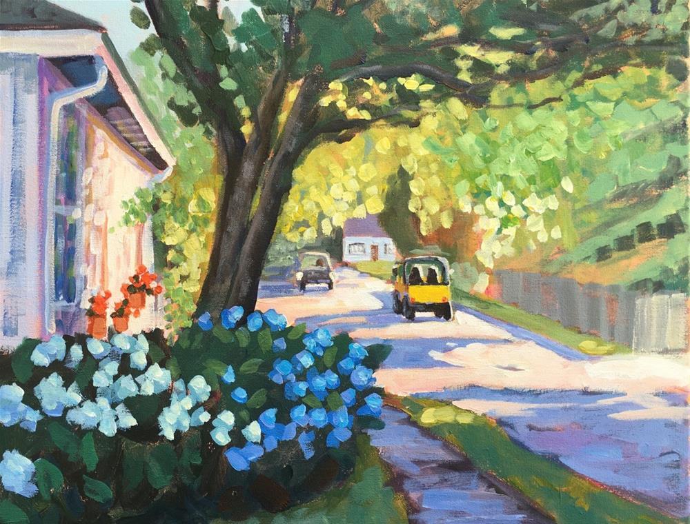 """Little Yellow"" original fine art by Linda Marino"