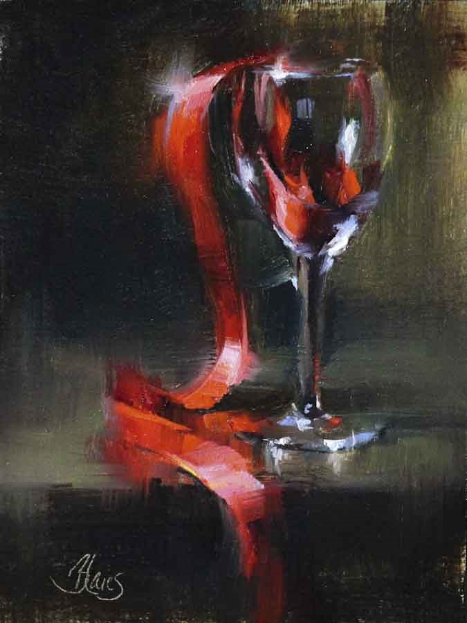 """Robust Red"" original fine art by Pamela Blaies"