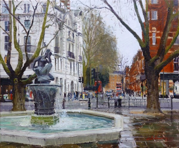 """Grey Tones, Sloane Square"" original fine art by Adebanji Alade"