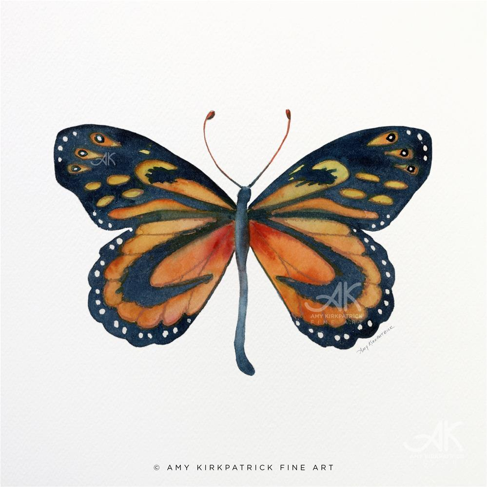 """#72 Cleobaea Butterfly #0381"" original fine art by Amy Kirkpatrick"