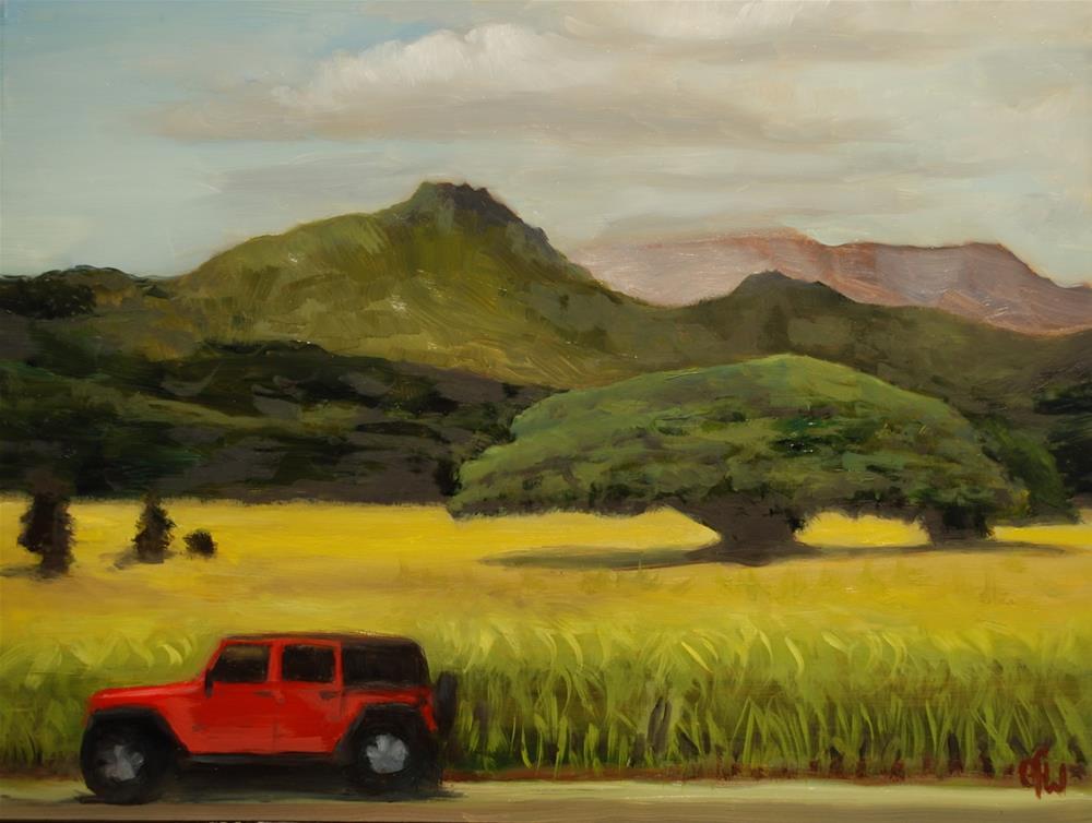 """Monkey Pod Tree"" original fine art by Gary Westlake"