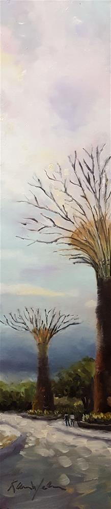 """Under the Super Trees, Singapore"" original fine art by Karen Weber"