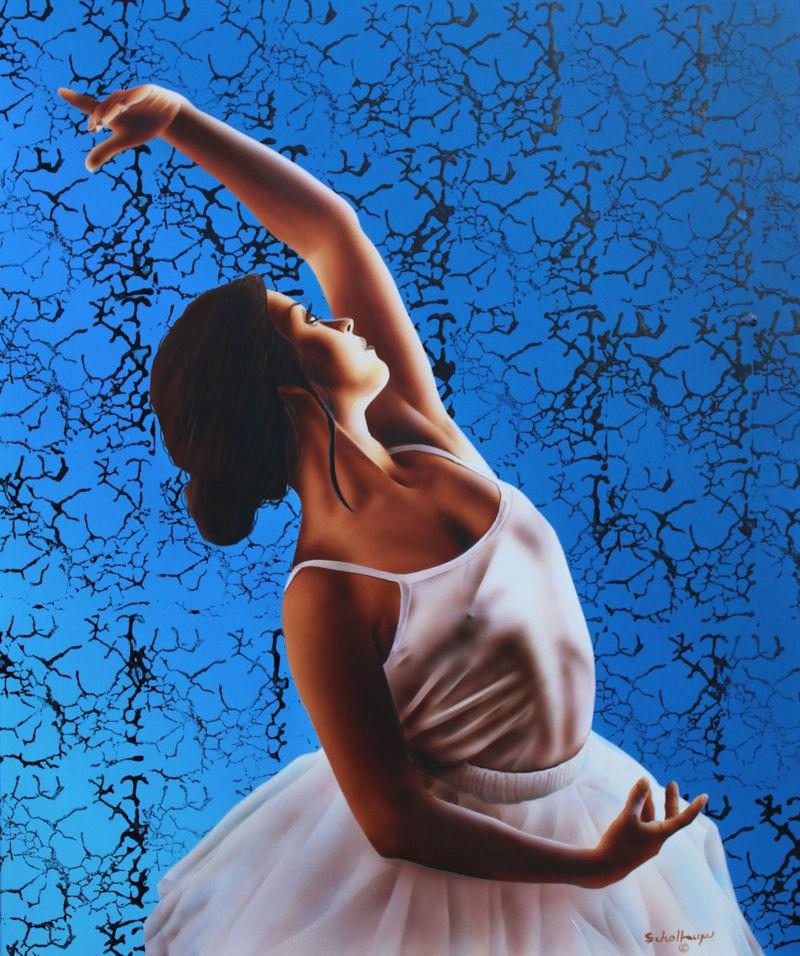 """""""Ballerina"""" original fine art by Fred Schollmeyer"""