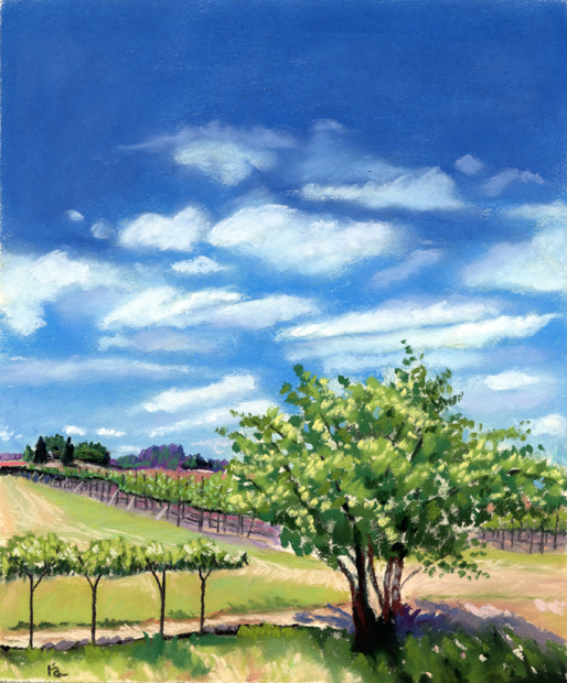 """Artesa Vineyards & Winery, Napa CA"" original fine art by Ria Hills"