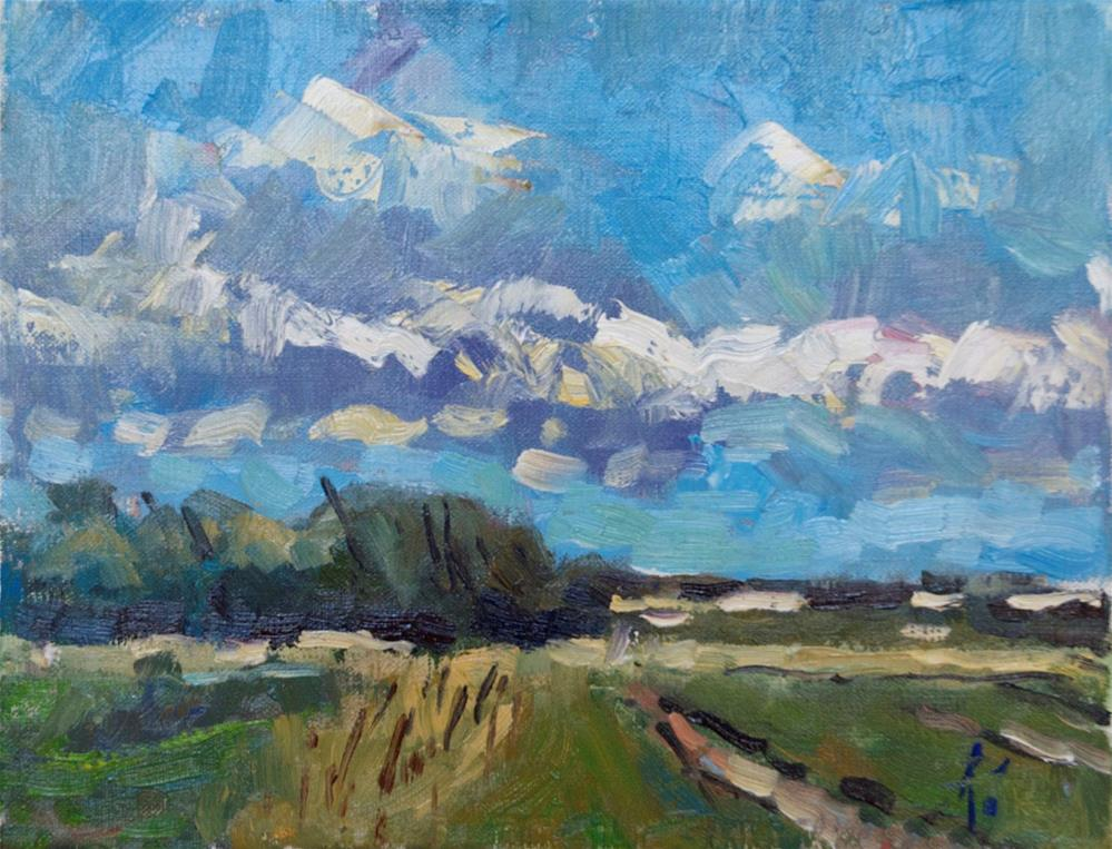 """""""Clouds on the Marina Road"""" original fine art by Andre Pallat"""