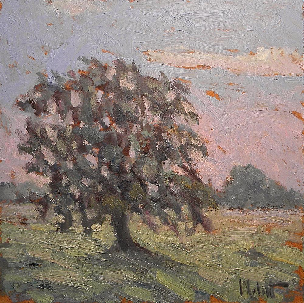 """Color Study Green at Dawn Landscape Oil Painting"" original fine art by Heidi Malott"