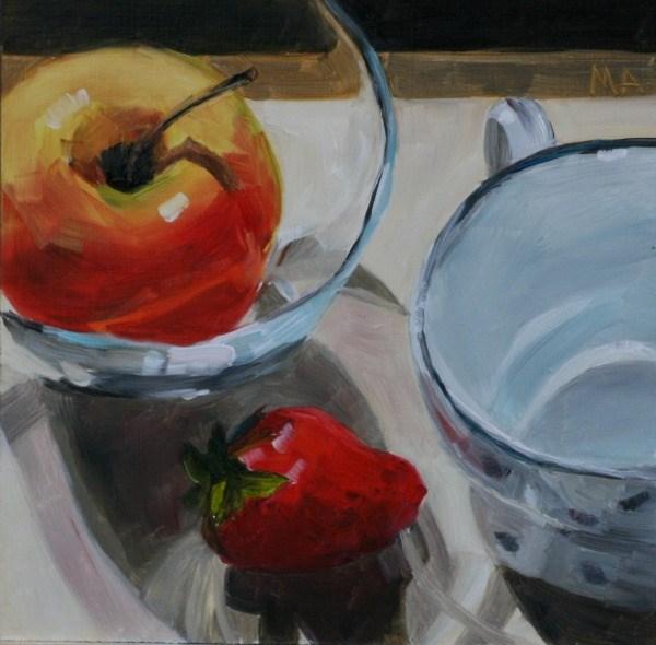 """Appleberry"" original fine art by Aniko Makay"