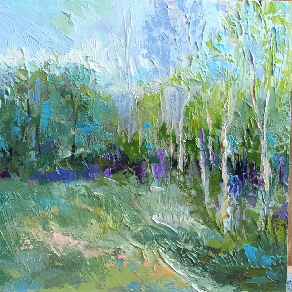 """Impasto Landscape Study 36"" original fine art by Charlotte Fitzgerald"