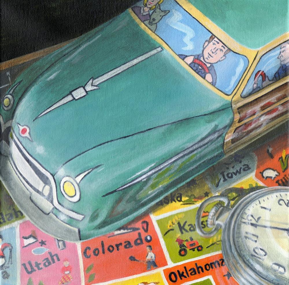 """Time Traveler"" original fine art by Debbie Shirley"