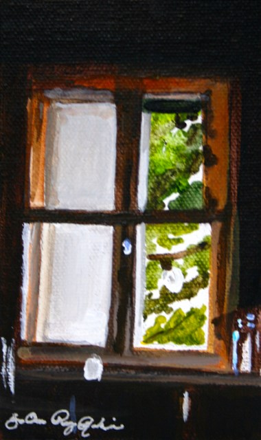 """Frosted Window"" original fine art by JoAnne Perez Robinson"