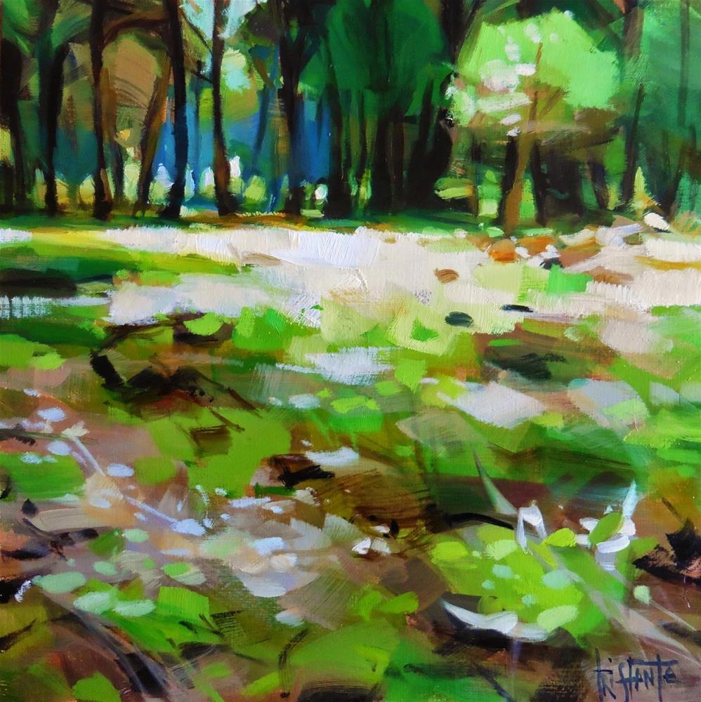 """""""Lights in the forest"""" original fine art by Víctor Tristante"""