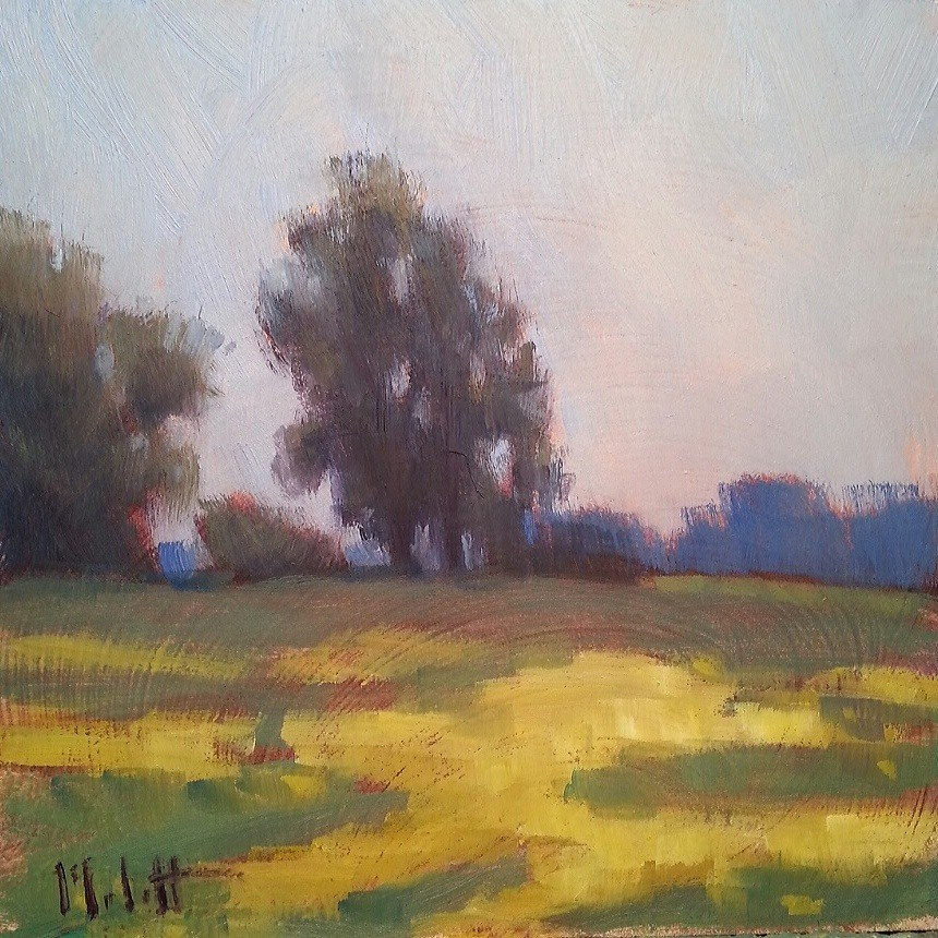 """Out in the Fields Rural Landscape Autumn Original Oil Painting"" original fine art by Heidi Malott"