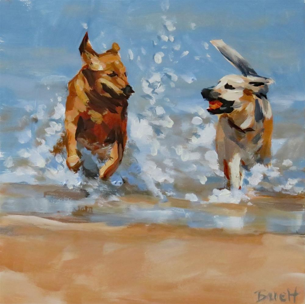 """Beach Buddies"" original fine art by Shari Buelt"