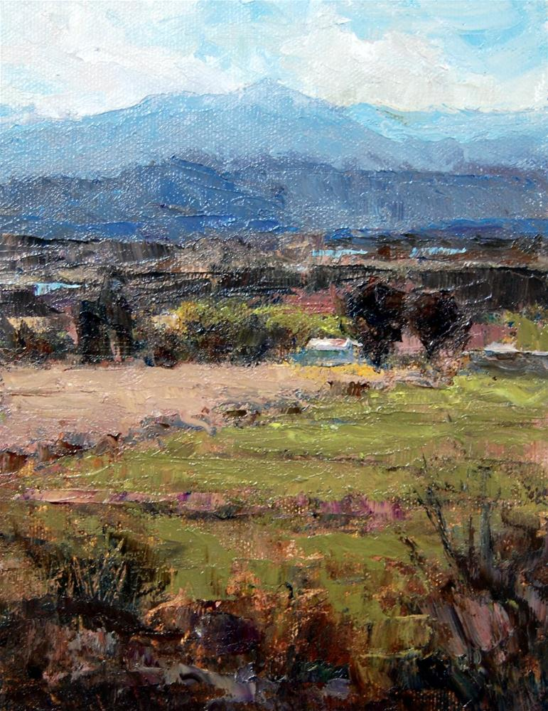 """""""Back in the Mesilla Valley"""" original fine art by Julie Ford Oliver"""
