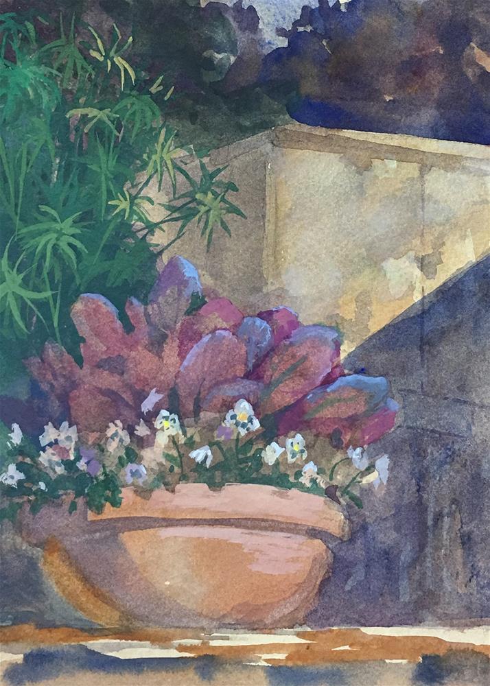 """""""Red Leaf Lettuce"""" original fine art by Robyn Jorde"""