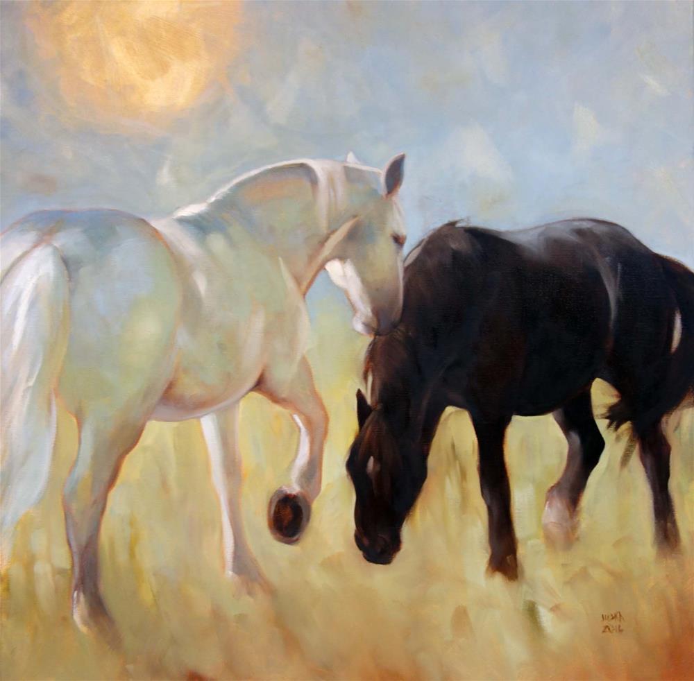"""""""When Days Were Golden #2"""" original fine art by Elaine Juska Joseph"""