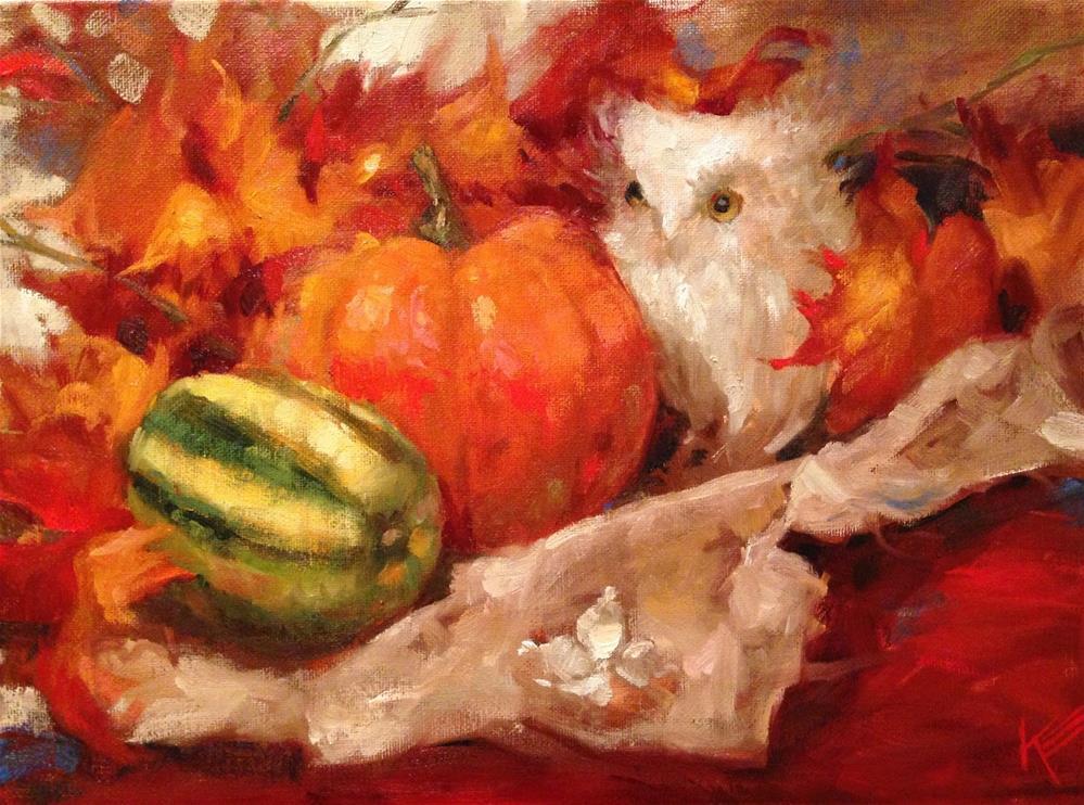 """Fall Friend"" original fine art by Krista Eaton"