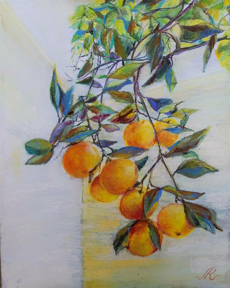 """Orange Tree"" original fine art by Jean Krueger"