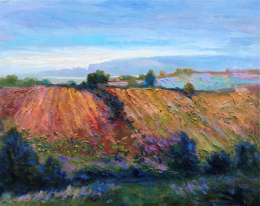 """Impasto Landscape 81"" original fine art by Charlotte Fitzgerald"