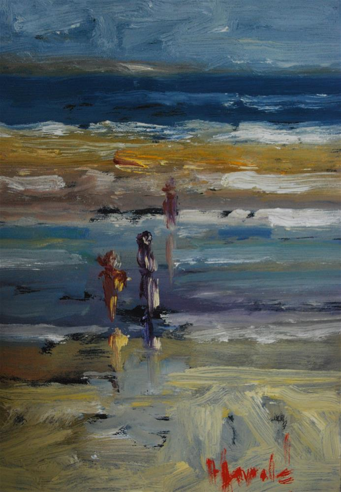 """La Playa"" original fine art by Deborah Harold"