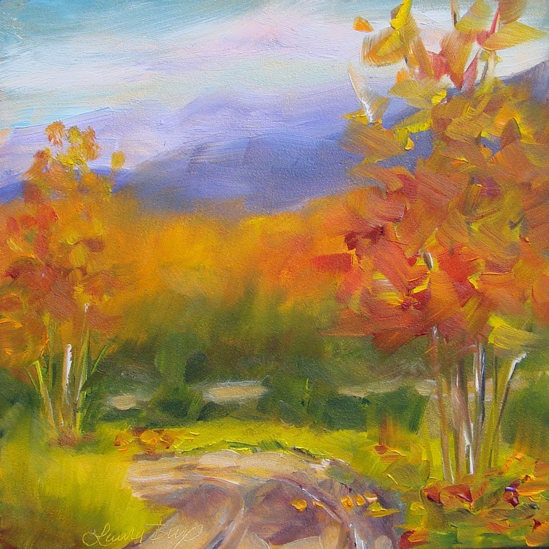 """Memories of Fall 164"" original fine art by Laura  Buxo"