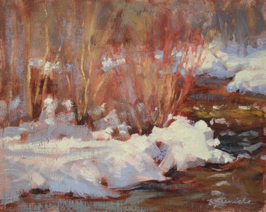 """Fleeting Light Along Tumalo Creek"" original fine art by Barbara Jaenicke"